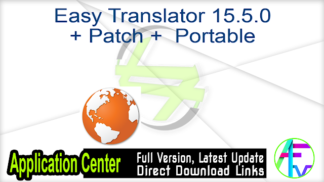 Easy Translator 15.5.0 + Patch + Portable