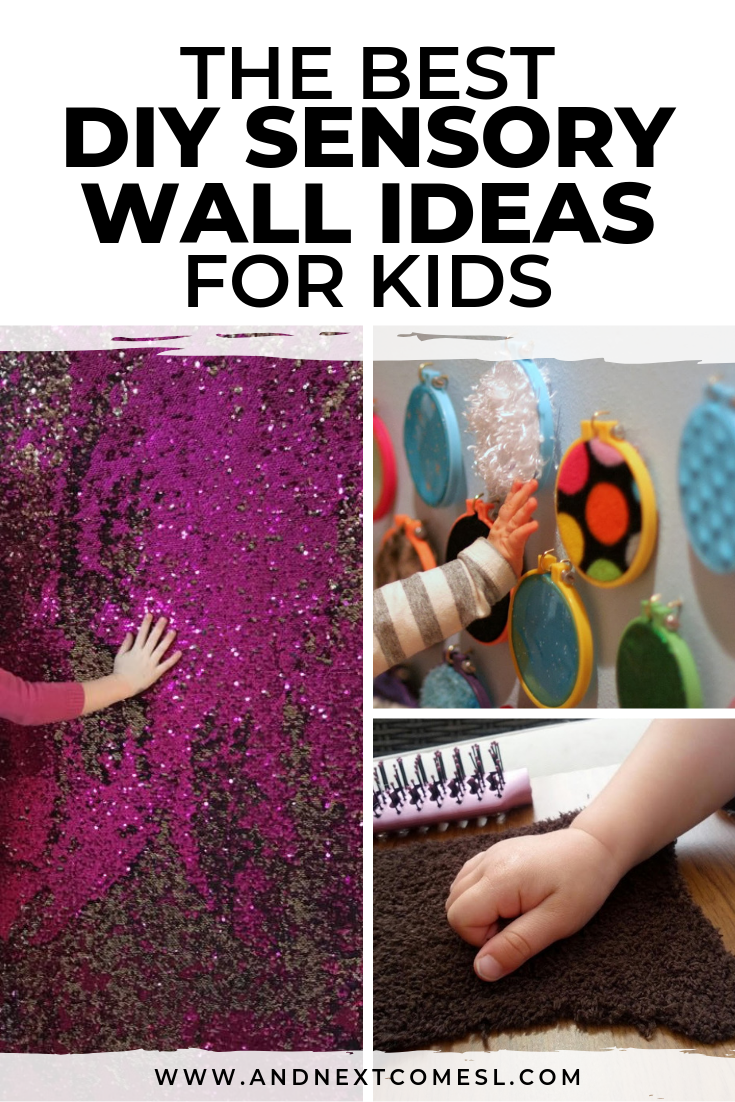 Homemade sensory wall ideas for kids with autism