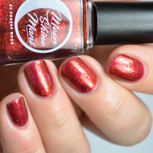 crimson jelly color shifting nail polish