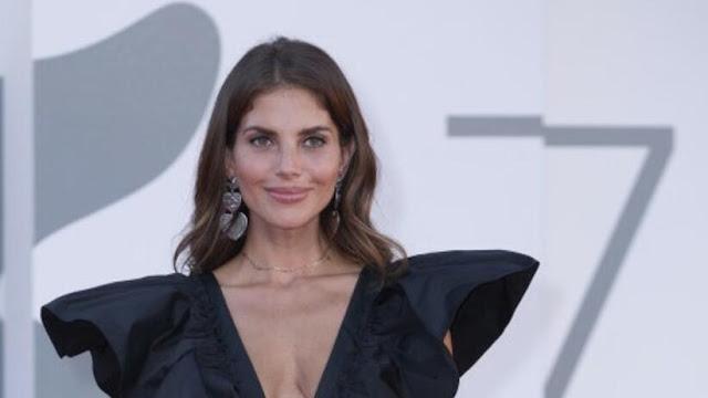 Polish Actress Weronika Rosati Cleavage Show in Black Dress Actress Trend