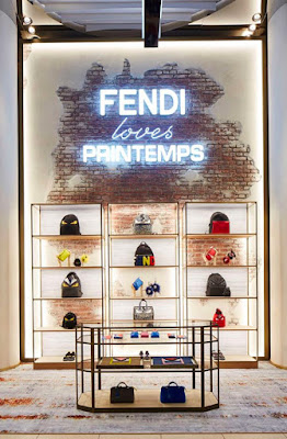 Green Pear Diaries, interiorismo, marketing, Pop Up Store, Fendi loves Printems, París