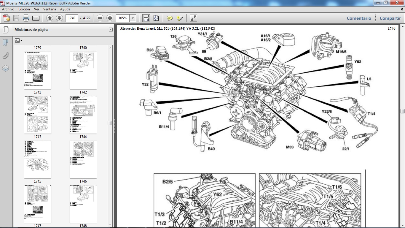 Ml320 Engine Diagram Power Over Ethernet Wiring Manuales De Taller Mercedes Benz