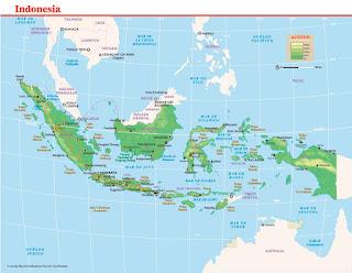 Mapa de Indonesia.