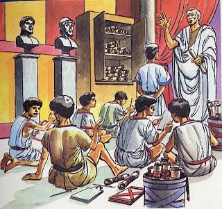 Resultat d'imatges de niños en una escuela romana
