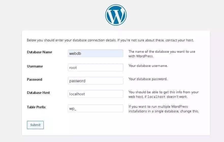 install wordpress on local host