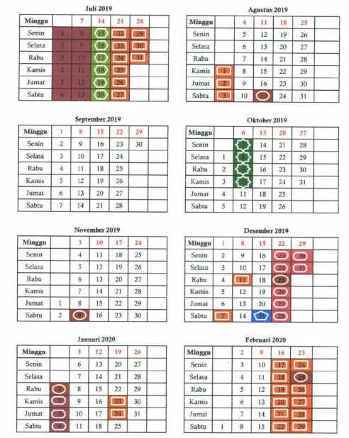Kalender Pendidikan Tahun 2019/ 2020 Semua Provinsi