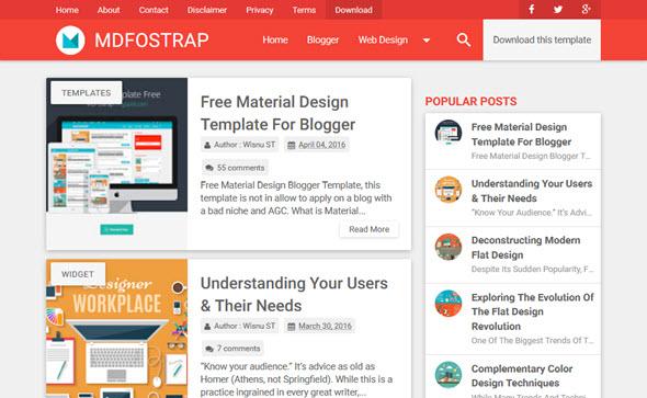 Mdfostrap Blogger Teması İndir, Blogger Tema İndir, Ücretsiz Blogger Temaları