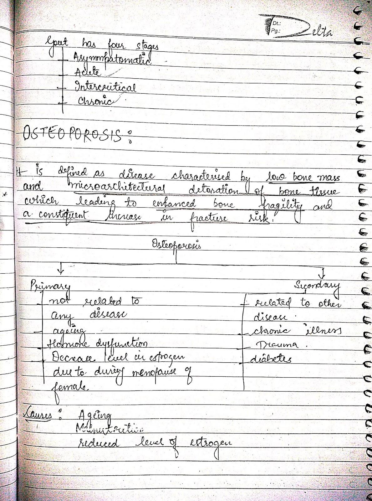 pathophysiology - osteoporosis