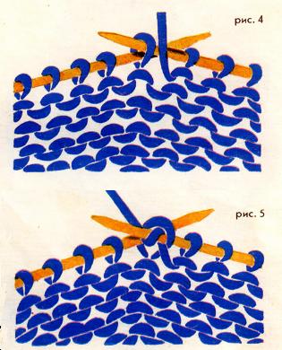 как вязать изнаночные петли