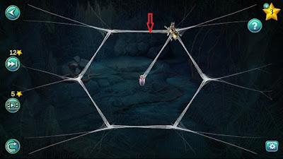 верное продвижение паука в паутине