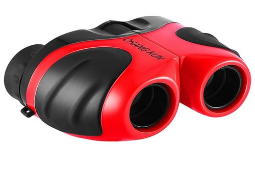 CHANG KUN Kids Compact Shockproof Binoculars