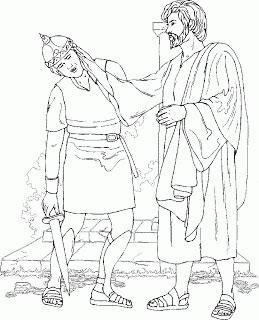 Jesus Heals A Man Born Blind Coloring Page