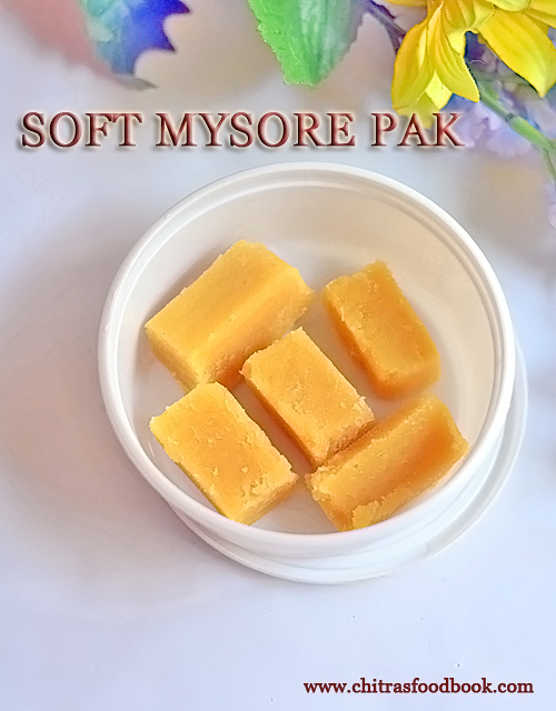 Soft mysore pak recipe