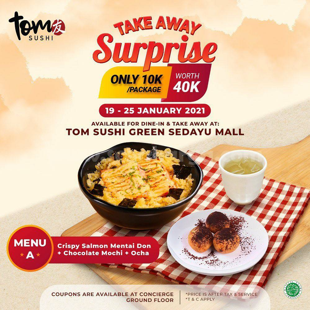 Tom Sushi Green Sedayu Mall Take Away Surpise! only 10K/ Package