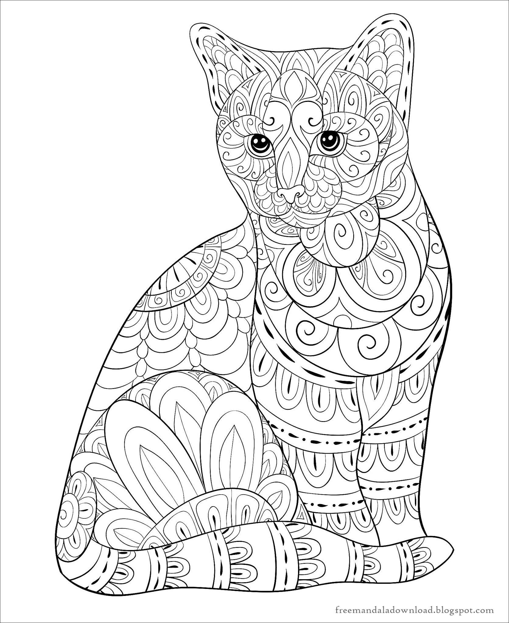 Katzen Mandala Malbuch Pdf Cats mandala coloring book PDF ...