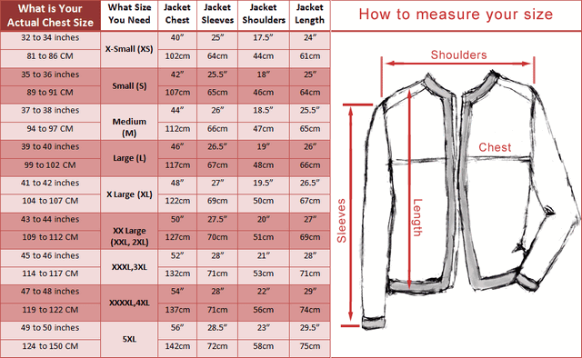 Discover Women's Coats & Jackets size guide with ASOS. Size Guide. Please note that size charts relate to ASOS own brand clothing and are designed to fit to the following body measurements. Some brands may vary from these measurements but you can still use them as a guide.