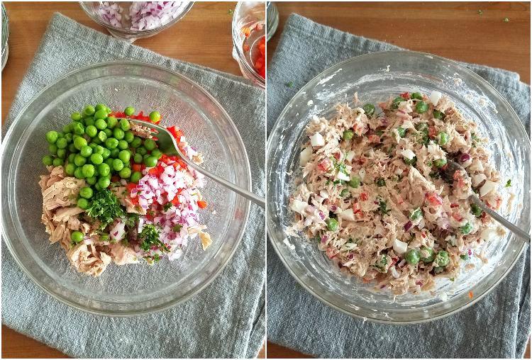 Ingredientes y preparación del relleno de atún