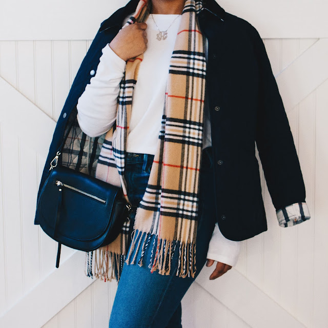 Fall Pinterest inspired outfit featuring Barbour and Burberry
