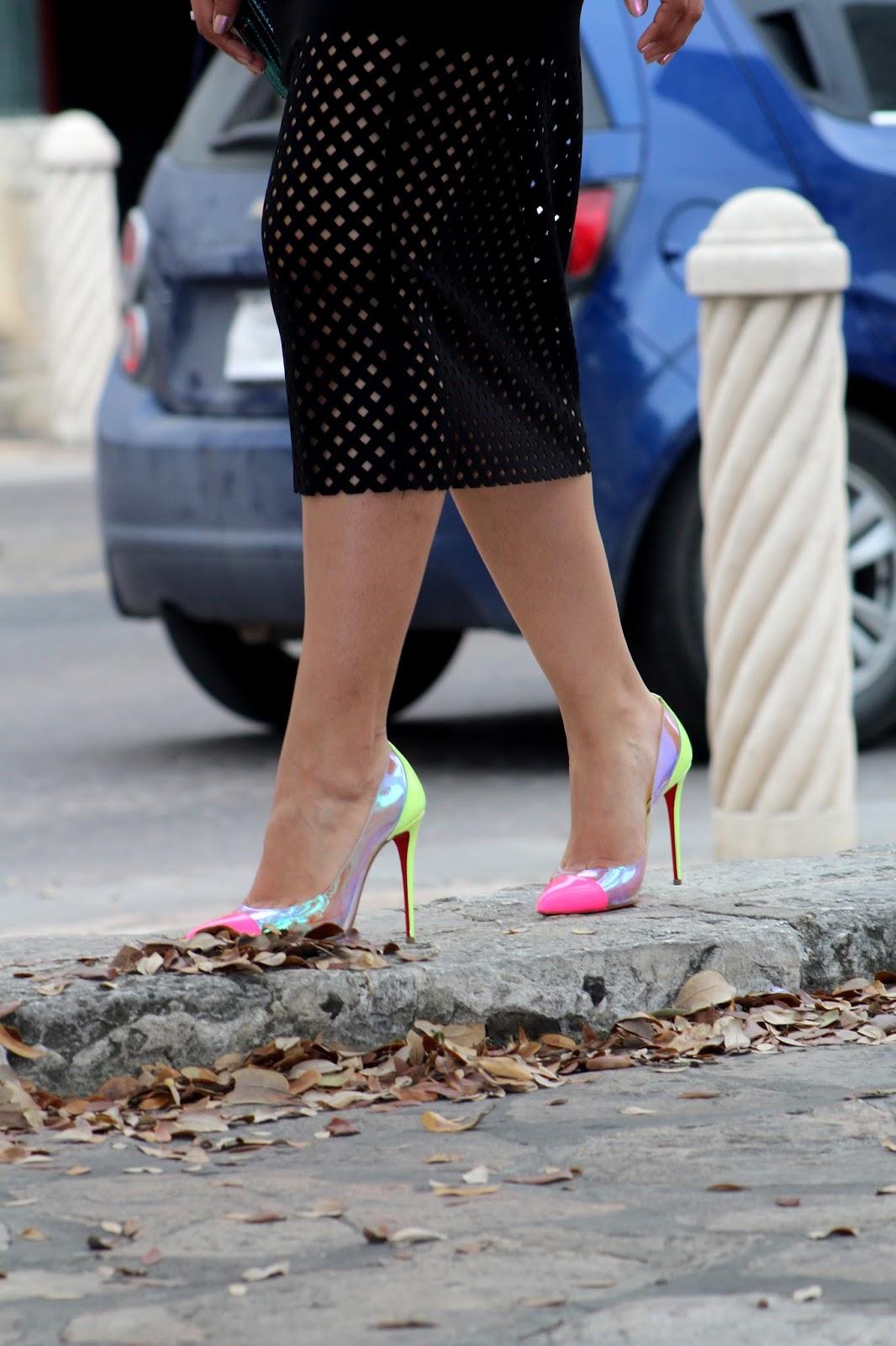 Christian Louboutin Neon Shoes