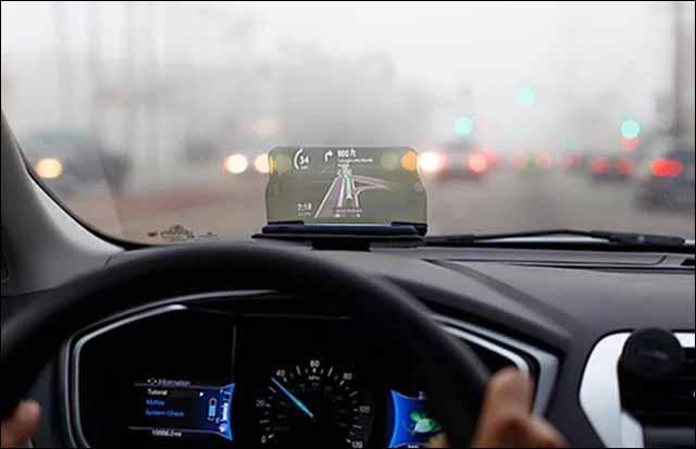 Công nghệ HUD hiển thị các thông tin giúp tài xế tập trung quan sát đường