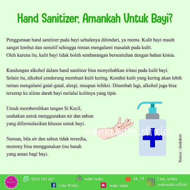 Amankah Hand Sanitizer Untuk Bayi