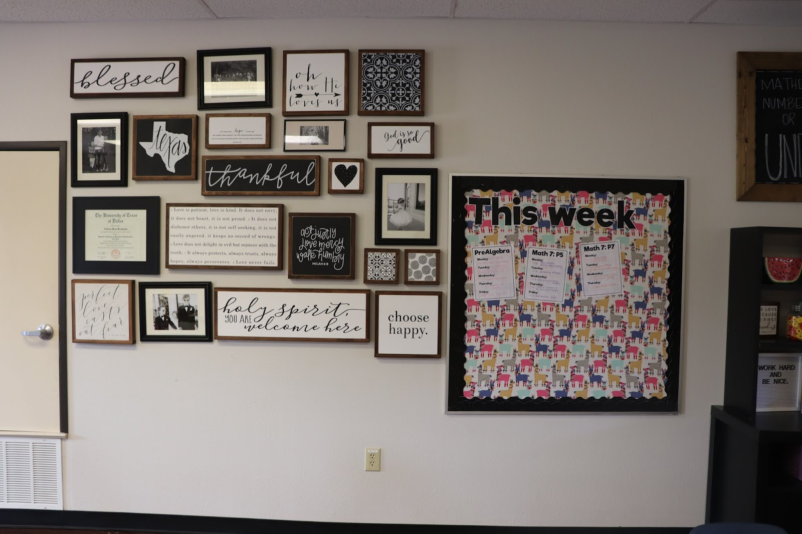 Teacher Tuesday Back To School Momfessionals Bloglovin Circuit Boards More Canvas Art Board Pillow The Left Of Door Is This Little Corner Table With Pencil Sharpener Used Be In Our Playroom And Kids Use Pillows If When They Choose