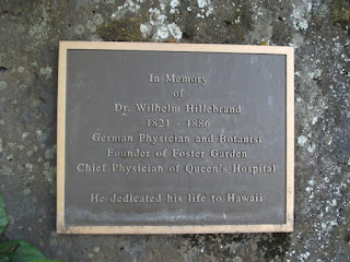 . Wilhelm Hillebrand, founder - Foster Botanical Garden, Honolulu, HI