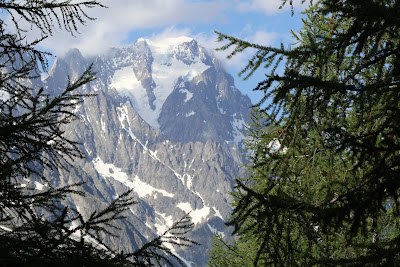 View from Val Veny to Grandes Jorasses.