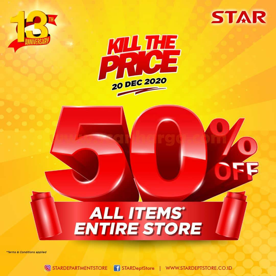 STAR Department Store Kill The Price –  Disc. up to 50% for All Items [Entire Store]