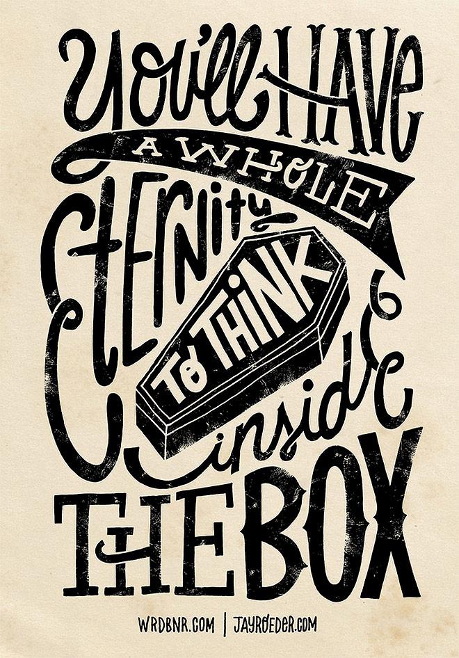 Inspirasi desain tipografi terbaik dan terbaru - Inside The Box by WRDBNR