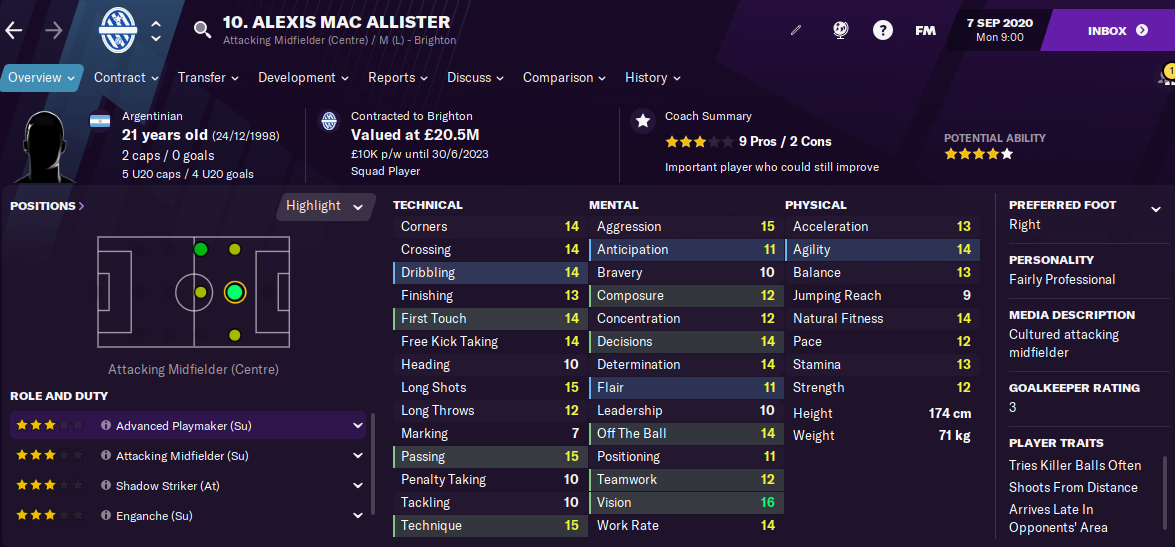 FM21 Alexis Mac Allister