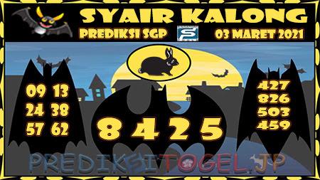 Prediksi Kalong SGP Rabu 03-Mar-2021