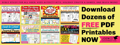 Free PDF Printables for Bible Study, Kids Activities, Holiday Crafts, and Hobbies