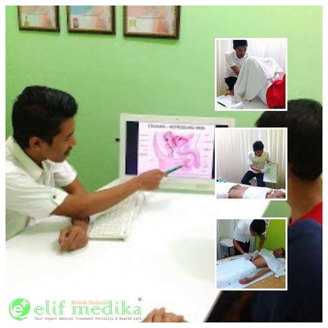 Konsultasi, Pemeriksaan Fisik Testis, Penjelasan Terapi dan Proses Terapi Teratozoospermia di Klinik Holistik Elif Medika
