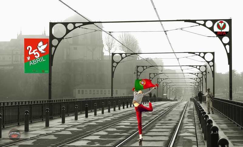 """25 DE ABRIL EM PORTUGAL: O gesto que um mulher do povo teve, seguida posteriormente por floristas que a ela se juntaram oferecendo cravos aos militares que enchiam as ruas e praças de Lisboa, fez com que o golpe ficasse conhecido como """"Revolução dos Cravos""""."""