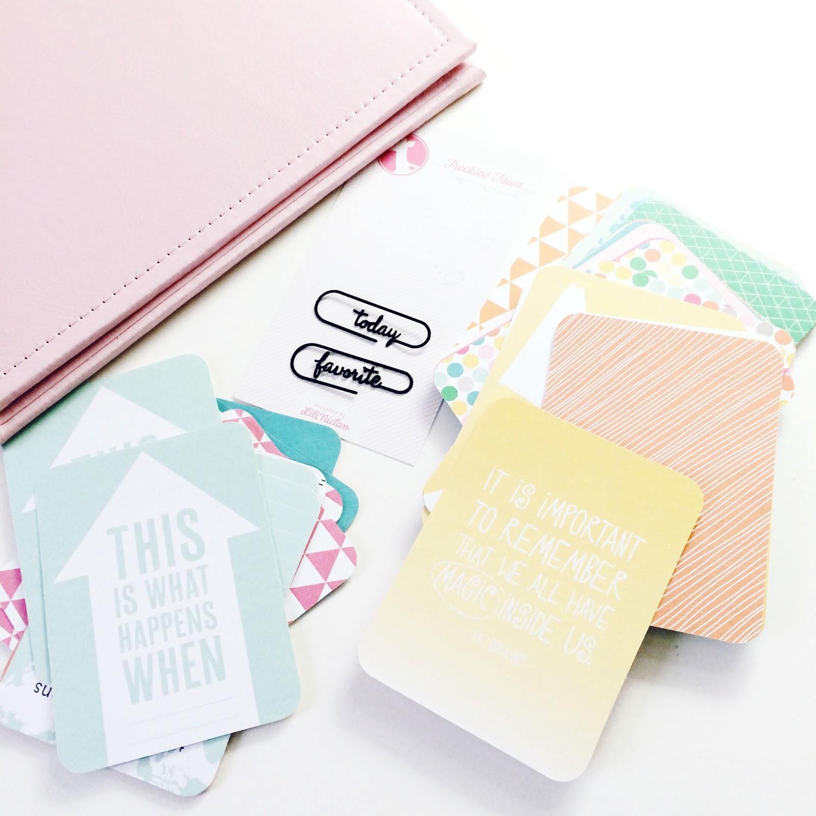 One Little Word Class von Ali Edwards - Vorbereitungen - Mein Album und ein paar Journaling Cards