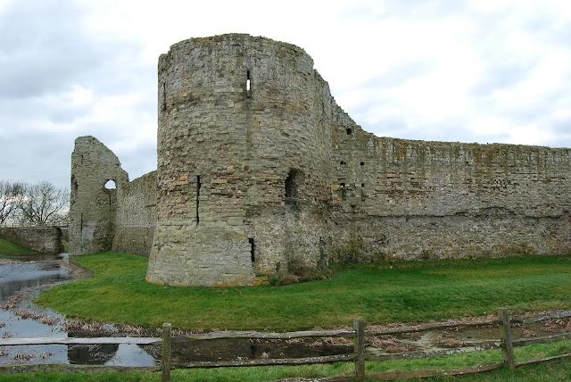 Pevensey Castle East Sussex England