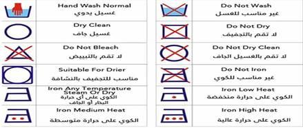 معاني رموز الغسيل علي الملابس