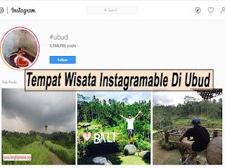 Inilah 3 Tempat Wisata Instagramable Di Ubud