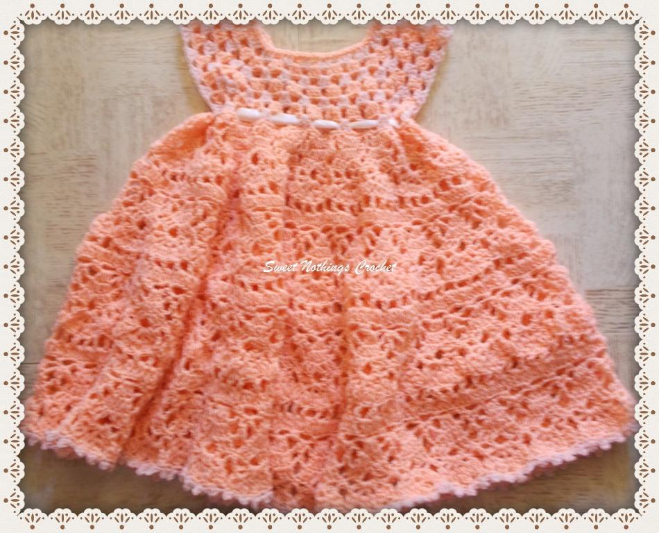 Sweet Nothings Crochet Lovely Shelled Girl S Dress