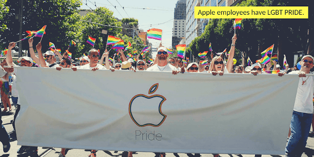 Apple employees march in San Francisco's Gay Pride Parade