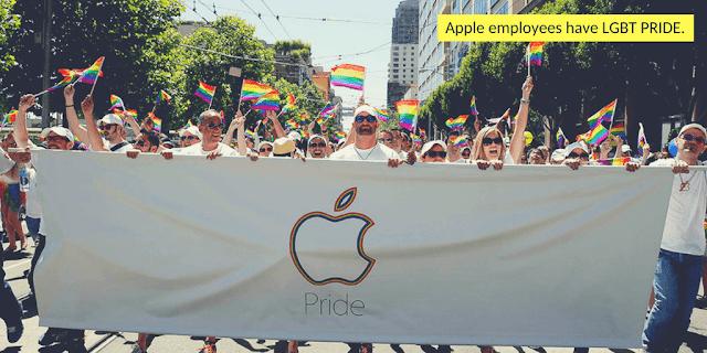 Apple employees march in San Francisco's Gay Pride Parade