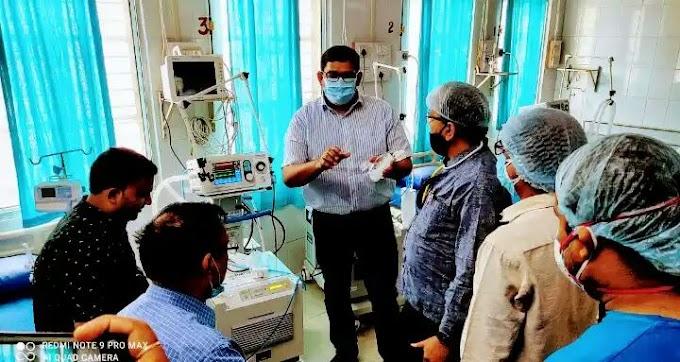 आरा सदर अस्पताल में आईसीयू किया गया चालू