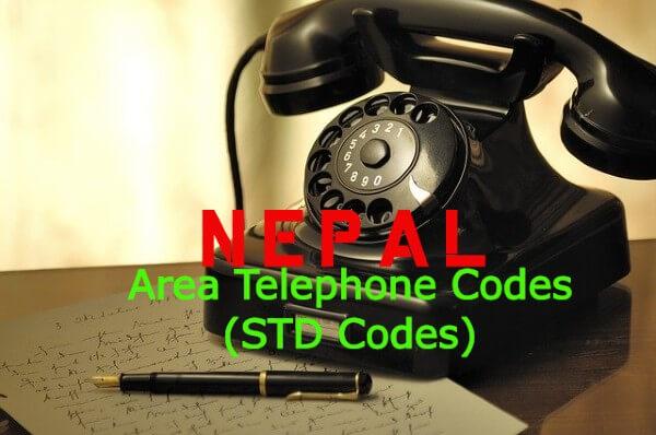 List of Nepal Telephone Area Codes (STD Codes)