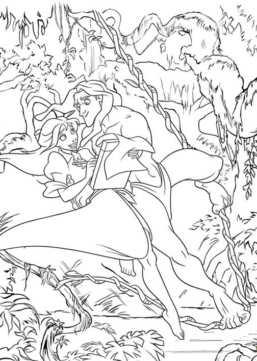 Cartoon Design: George Of The Jungle 2 Coloring Sheet