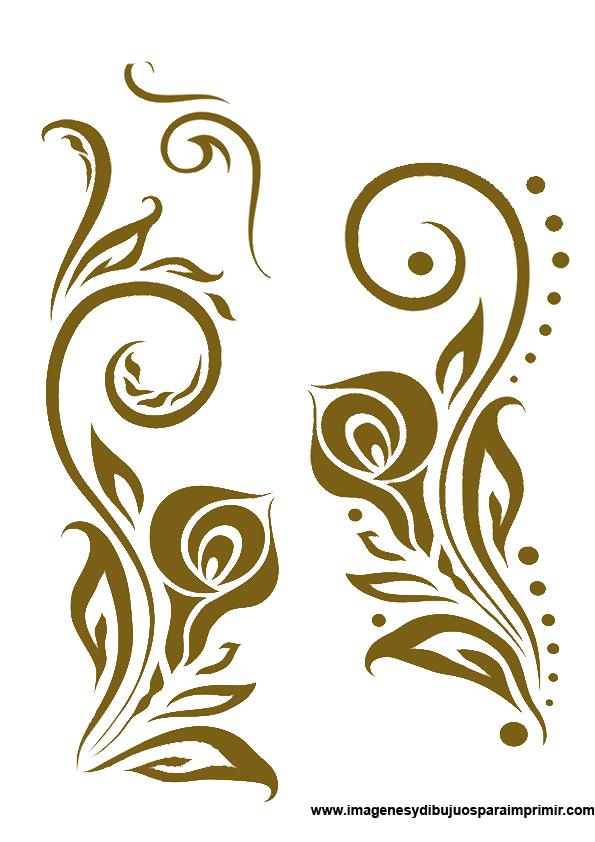 Imagenes de flores para bordar imagenes y dibujos para - Cenefas decorativas para imprimir ...