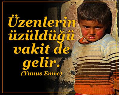 """""""Üzenlerin üzüldüğü vakit de gelir.""""  (Yunus Emre), üzgün çocuk, ağlayan çocuk, kalp kırıklığı, zulüm, zalimlik, savaş, acı, gözyaşı,"""