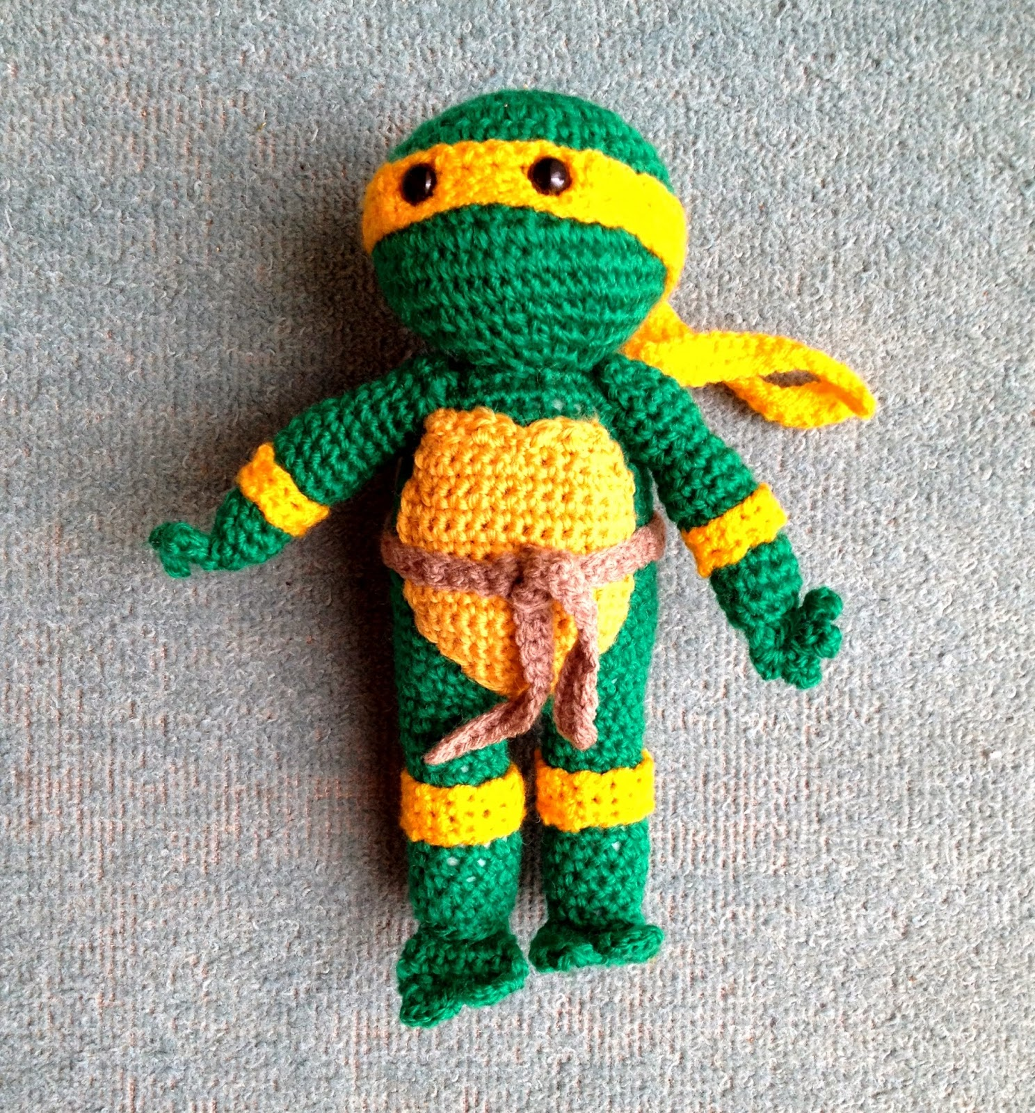 Amigurumi Teenage Mutant Ninja Turtle - Free Crochet Pattern ... | 1600x1488
