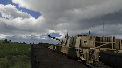 Arma3用Project Racs MODのM109自走榴弾砲