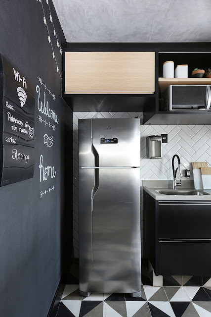 small -black-kitchen